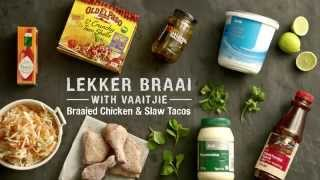 Braaied Chicken And Slaw Tacos