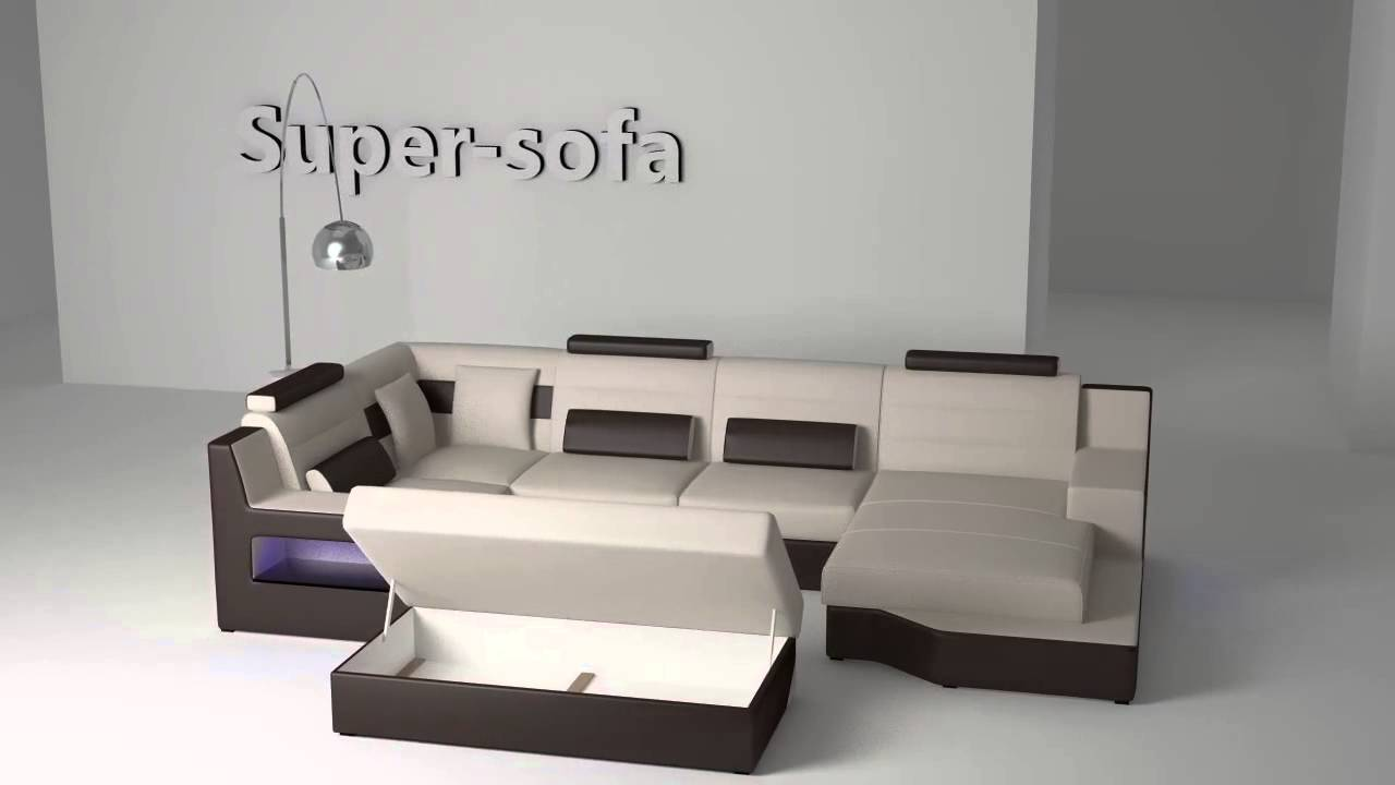 ecksofa ronaldo mit schlaffunktion naturlder napalon leder super sofa download youtube. Black Bedroom Furniture Sets. Home Design Ideas
