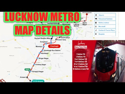 Lucknow Metro Railway Map View Full Details