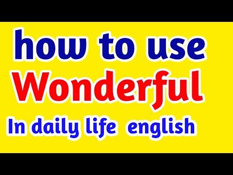 WONDERFUL MEANING IN HINDI|wonderful meaning in english|wonderful sentences in english|Vocabulary