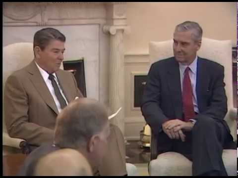 President Reagan Meeting with Senators Lloyd Bentsen and Bob Packwood on June 2, 1987