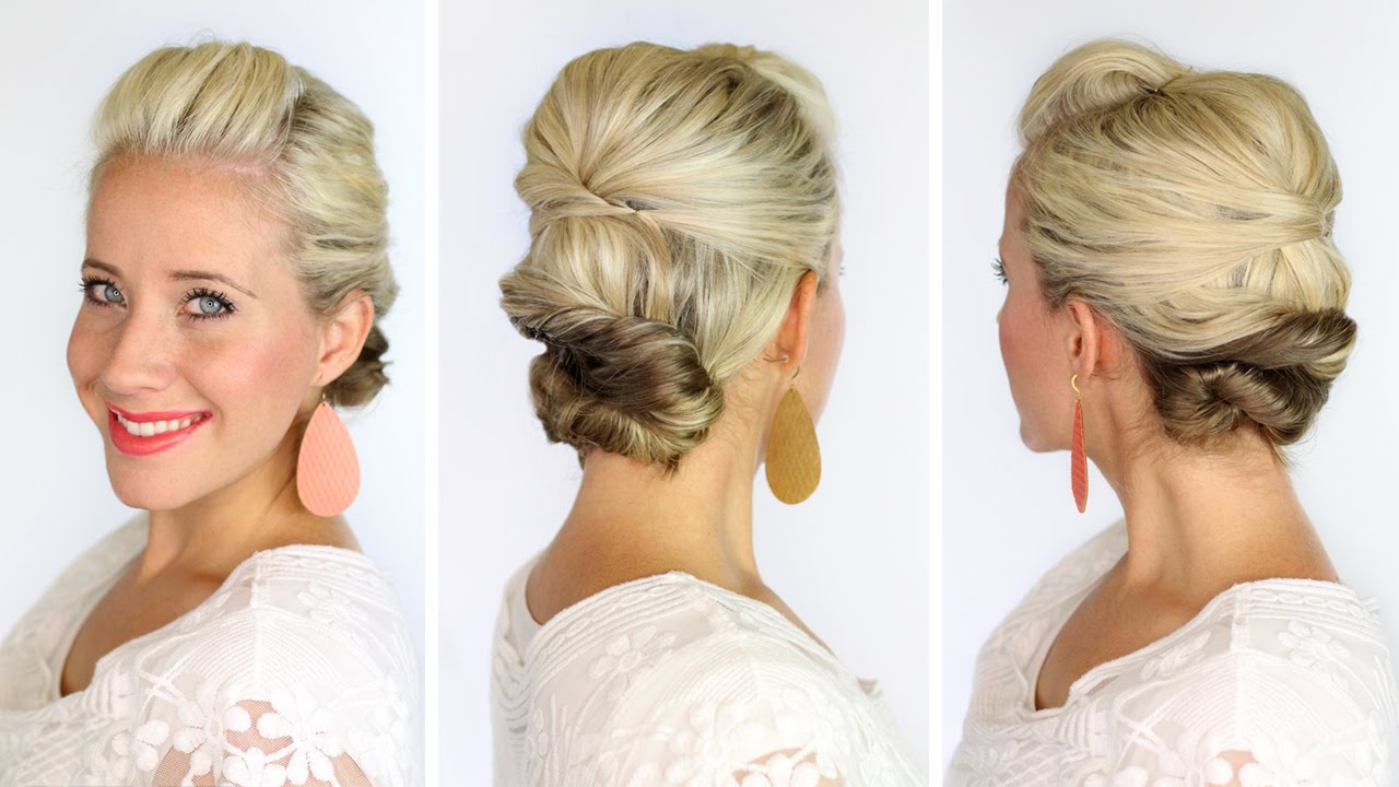 A Soft Updo For Short Hair Youtube