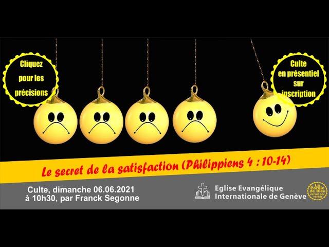LE SECRET DE LA SATISFACTION