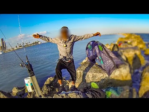 Guy Blockades The Jetty From Fishing!! (with Twist Ending)