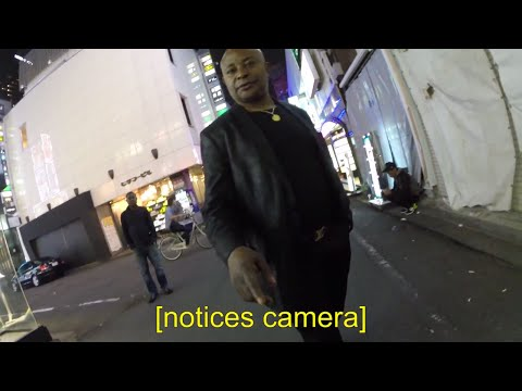 African Yakuza tout attacked me @ Shinjuku Red-Light District, Tokyo Japan