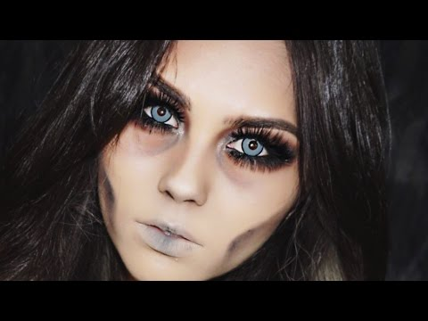 DEAD GLAM | Easy Last Minute Halloween Makeup Tutorial - YouTube