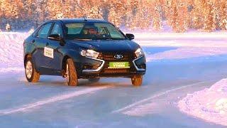 Lada Vesta: валим боком на льду без ESP и с ESP