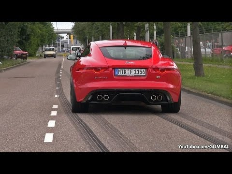 Jaguar F-Type R Coupe - Brutal Revs & Backfiring Sound!