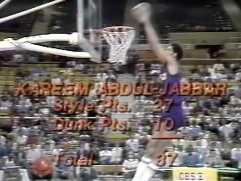 Kareem Abdul-Jabbar 1977 NBA Slam Dunk