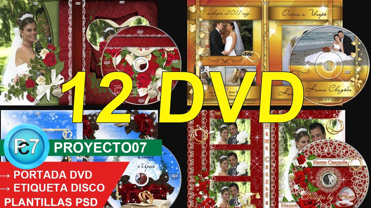 12 Dvd BODAS[PORTADA y ETIQUETA] Plantillas PSD editables en ...