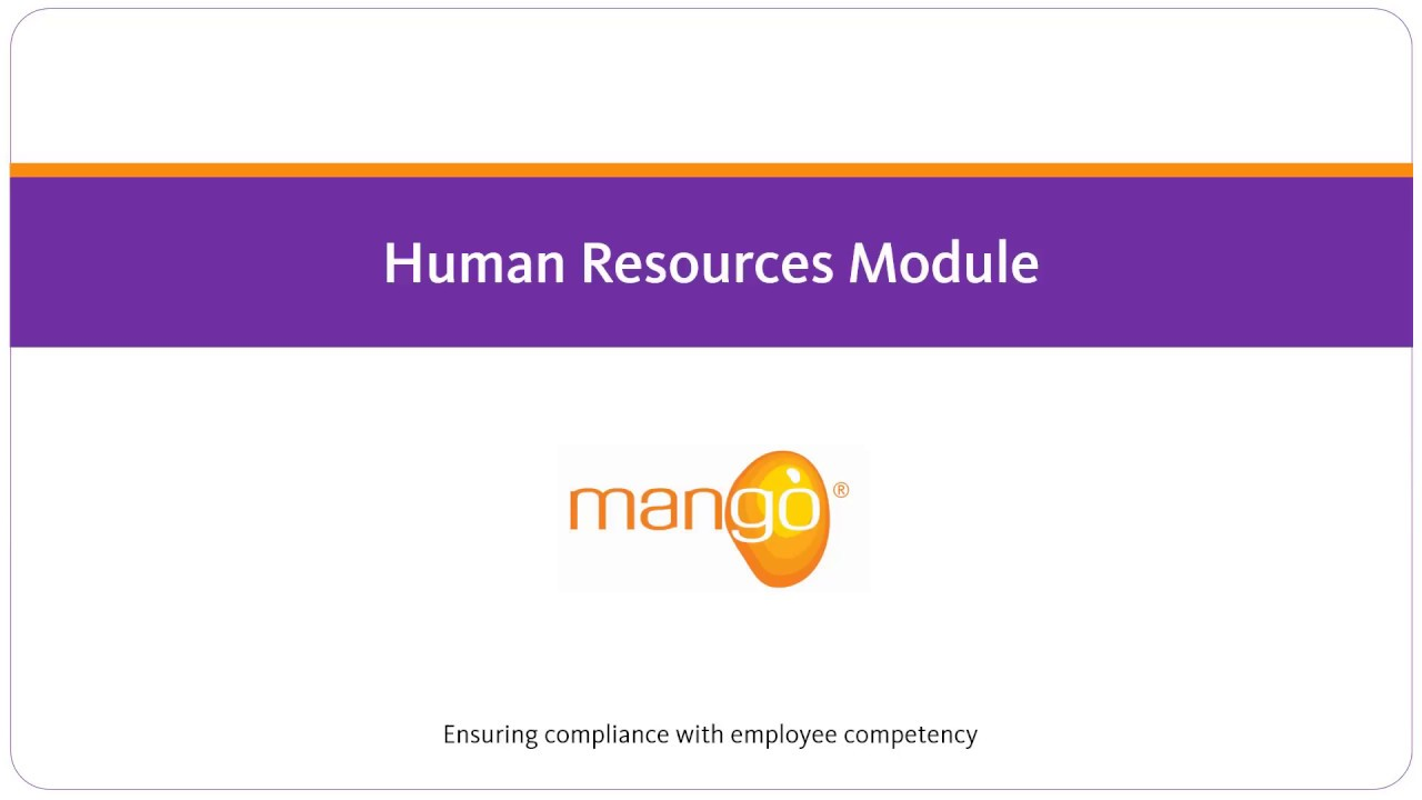 Mango - Human Resources Module
