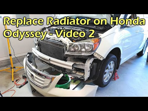 Install Radiator on Honda Odyssey - VIDEO 2 Bleed Air in Cooling System