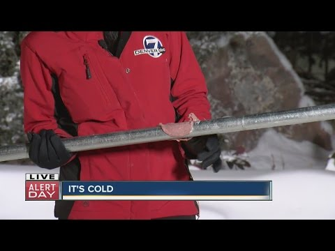 How cold is it? Denver7's Sally Mamdooh finds out