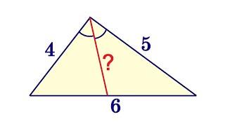 Найдите биссектрису большего угла треугольника со сторонами 4, 5 и 6 ★ 2 способа решения