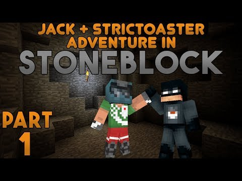 A Brand New World! Jack & Strictoaster play Minecraft: Stoneblock Part 1
