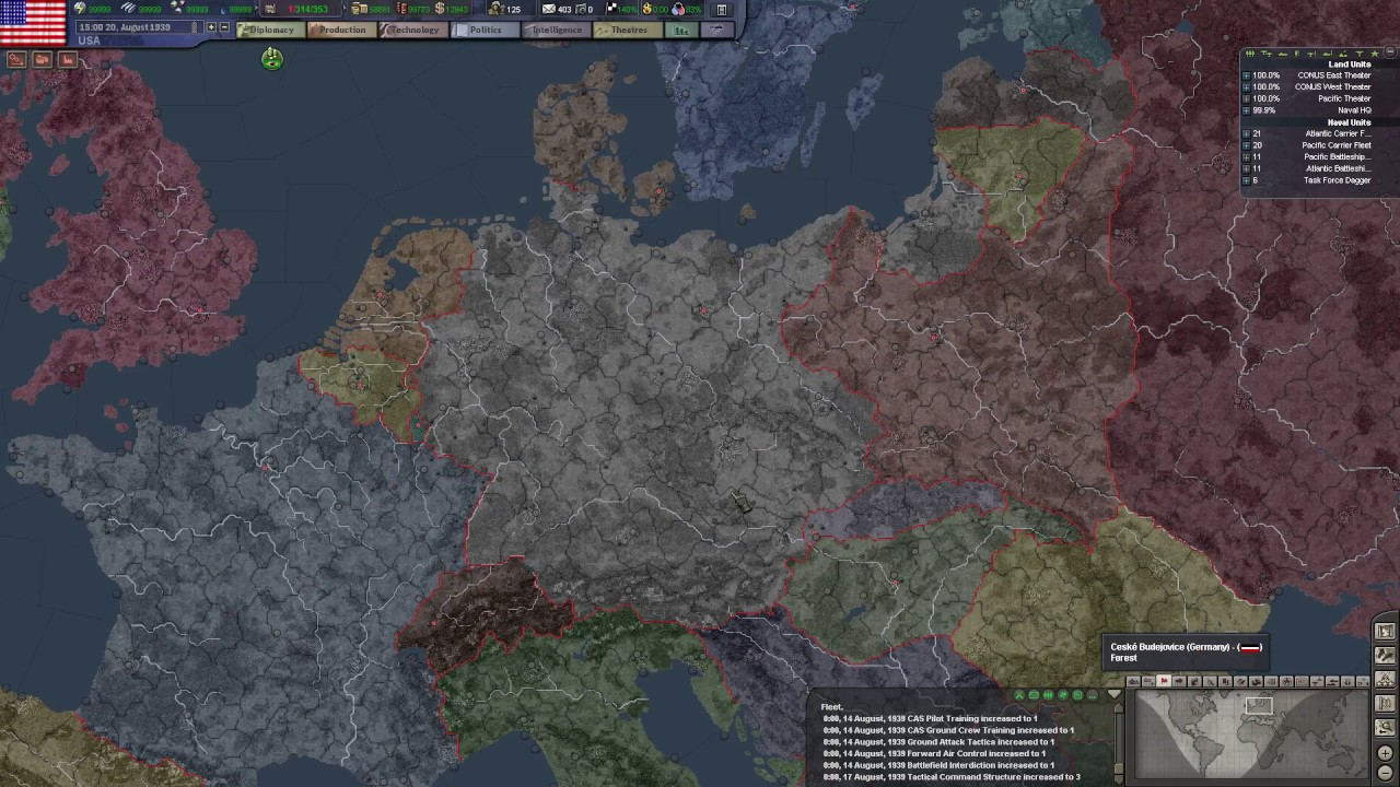 HoI TFH EN US Empire P Germany On The Move YouTube - Us empire map pacific