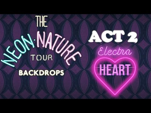 Marina and the Diamonds - The Neon Nature Tour Backdrops - Act 2 -