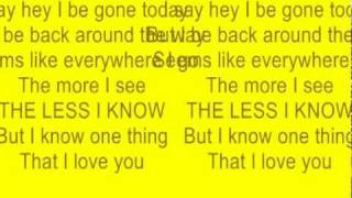 say hey i love you with lyrics by Michael Franti and spearhead