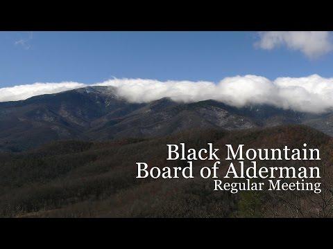 Black Mountain Board of Alderman Meeting (May 8, 2017)