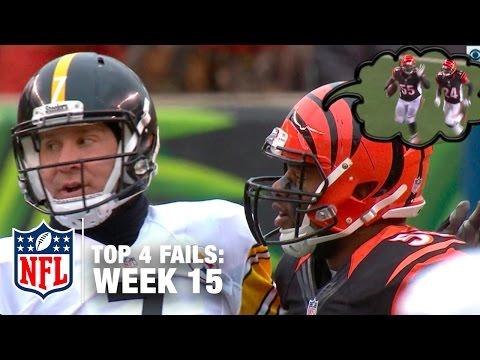 Top 4 NFL Fails (Week 15)   Shek Report   DDFP