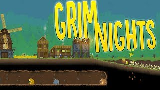 The Undead Horde Are Coming! - Building A City Fortress - Grim Nights Gameplay Part 1