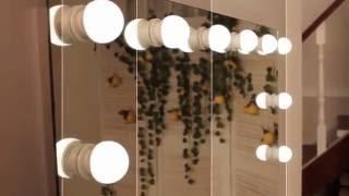 Зеркало с подсветкой Juergen Hollywood (www.santehimport.com)(Juergen Hollywood - это гримерное зеркало с встроенной подсветкой. Оно выполнено в стиле старого Голливуда, родины..., 2016-09-15T10:52:29.000Z)
