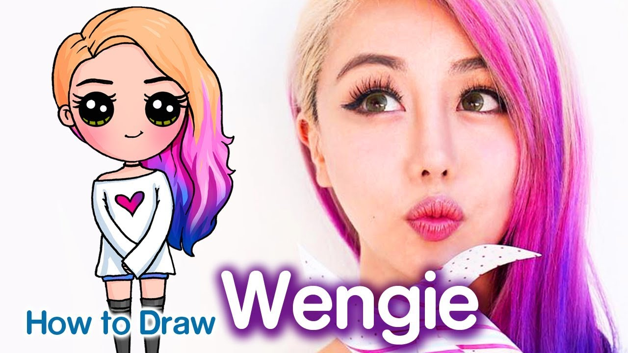 How To Draw Wengie Easy Chibi Famous Youtuber Youtube
