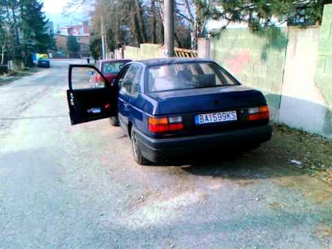 VW Passat B3 1.6TD cold start -14C
