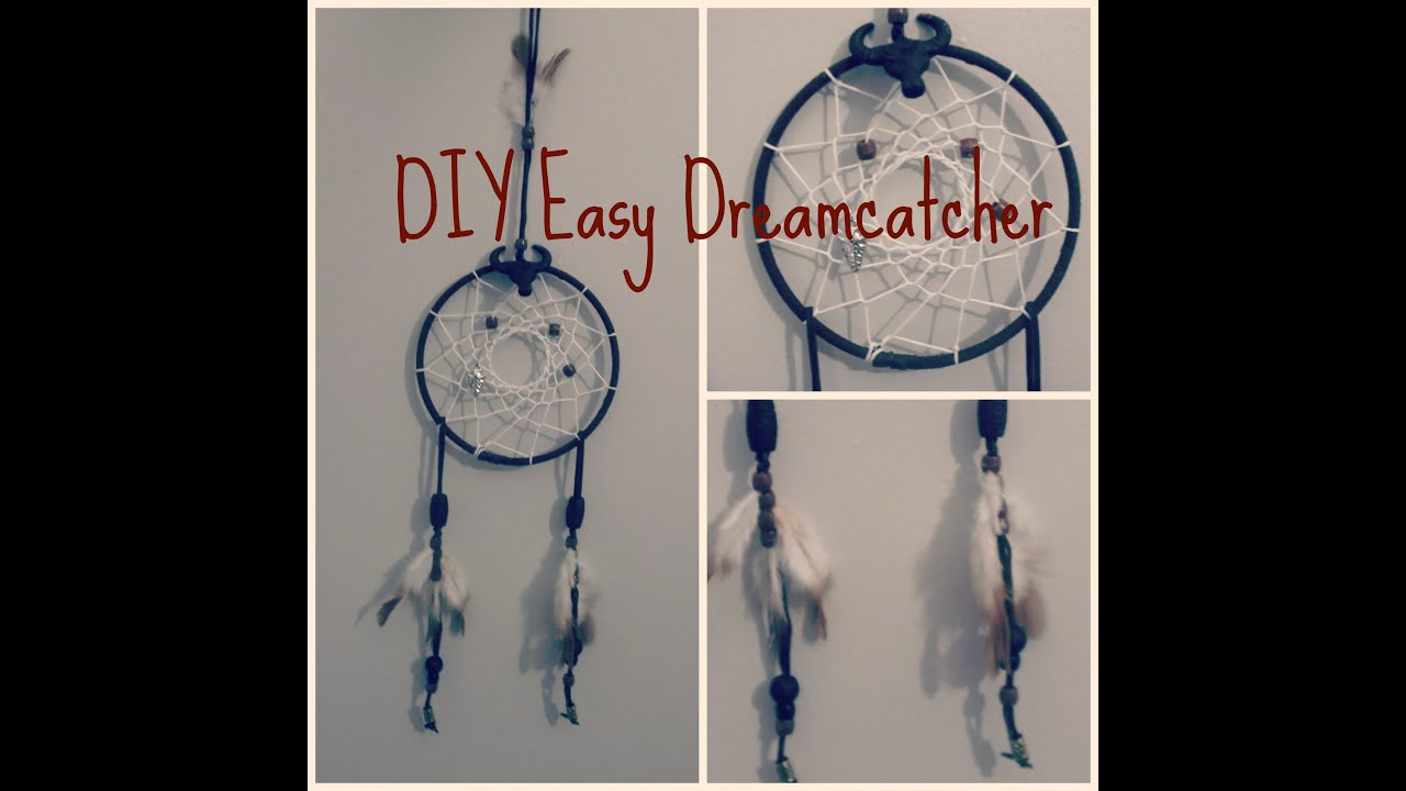Diy easy dreamcatcher youtube for How to make dreamcatcher designs