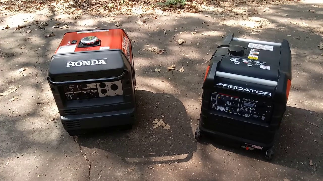 Honda EU3000is VS Predator 3500 Inverter - YouTube