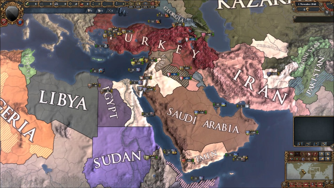 Europa Universalis 4 Modern Greater Middle East Custom Nations
