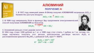 № 295. Неорганическая химия. Тема 36. Алюминий и его соединения. Часть 2. Получение, применение