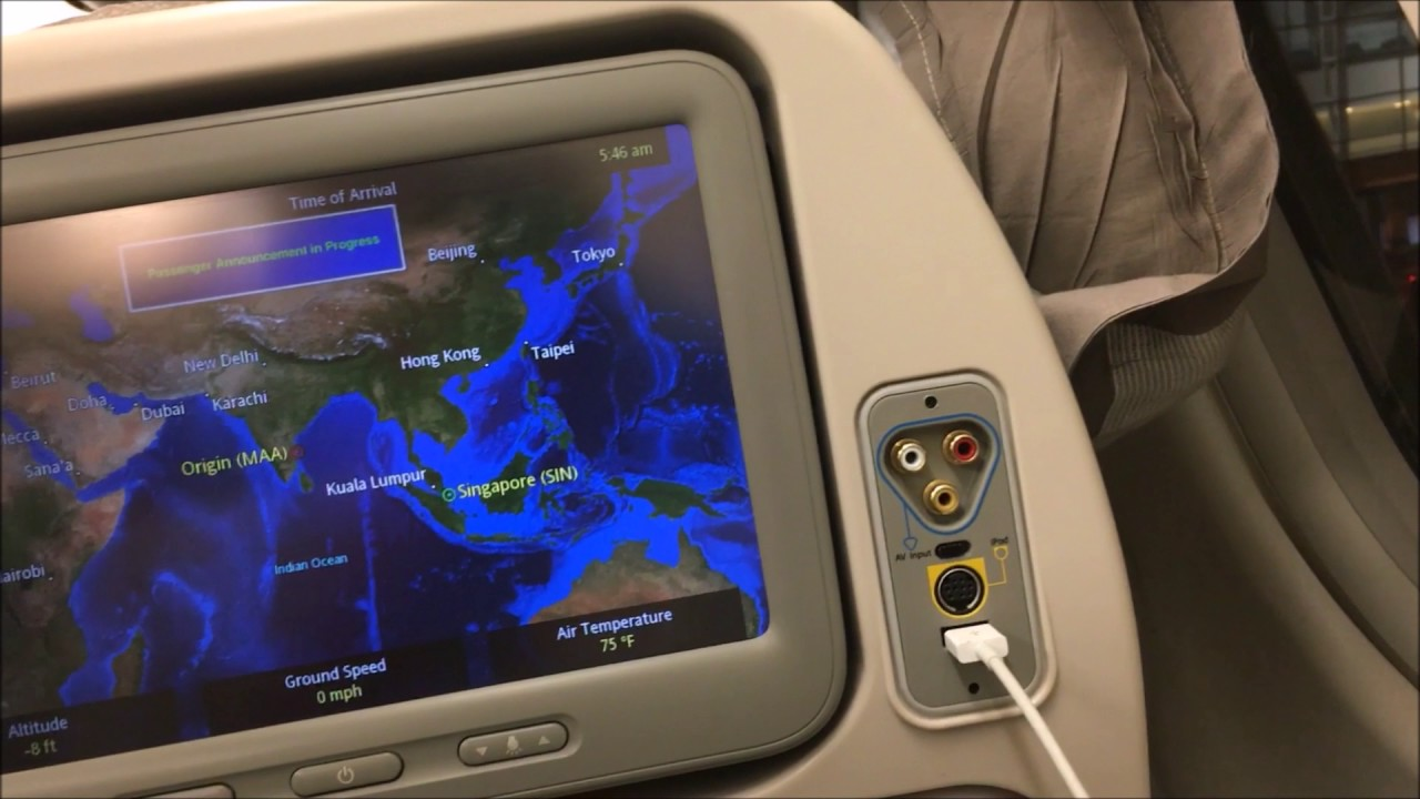 Singapore Airlines Flight SQ529 from Chennai to Singapore - YouTube