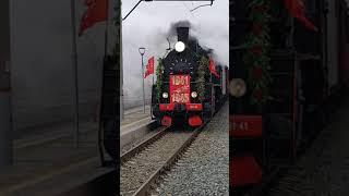 """Ретро-поезд """"Воинский эшелон"""" в Аткарске"""