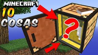 Minecraft - 10 Cosas que No Sabías de la MESA DE TRABAJO - Rabahrex