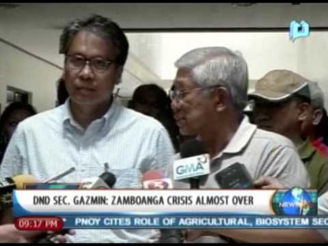 [NewsLife] DND Sec. Gazmin: Zamboanga crisis almost over Travel Video