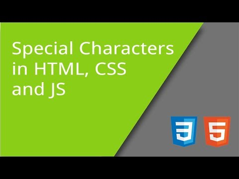 Special Characters In HTML, CSS, And JS