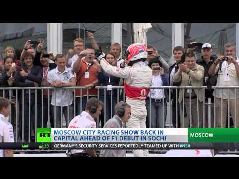 Button headlines F1 show in Moscow ahead of Sochi Grand Prix