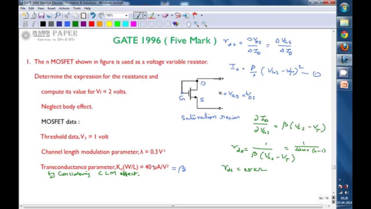 Gate 1996 Ece Drain Connected Mosfet As Voltage Variable Resistor Alternative Energy Circuits Blog