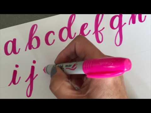 Oddly Satisfying: Sharpie Brush Lettering Alphabet