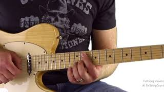 Shoot Me Straight - Brothers Osborne - Full Guitar Lesson Outro Solo Part 1