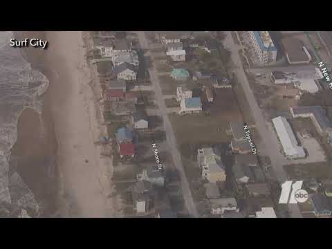 Aerial view of damage in Surf City