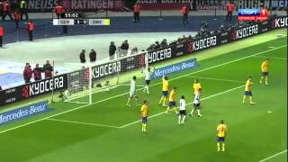 Германия - Швеция 4:4 обзор матча/ Germany - Sweden 4:4 highlights(обзор матча отборочного турнира на ЧМ 2014/Highlights World Cup qualifier 2014 8' (1-0) M. Klose; 15' (2-0) M. Klose 39' (3-0) P. Mertesacker 56' (4-0) M., 2012-10-17T02:47:07.000Z)