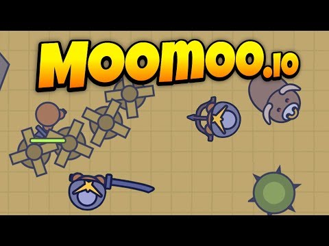 MooMoo.io - New Update! - Desert Raiding and Big Bull Attacks! - Let's Play MooMoo.io Gameplay