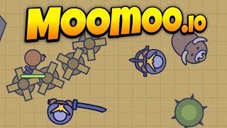 MooMoo.io - New Update! - Desert Raiding and Big Bull Attacks! - Let's Play MooMoo.io Gameplay thumbnail
