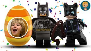 Elsa Surprise Eggs Unboxing - Gertit Toys Review Batman and Catwoman Super Heroes Toy Review