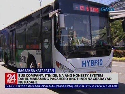 24 Oras: Bus company, itinigil na ang honesty system dahil maraming pasahero ang hindi nagbabayad