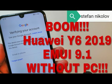 BOOM!!! Huawei Y6 2019 MRD-LX1. Remove Google Account, Bypass FRP.
