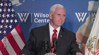 WATCH: Vice President Mike Pence speaks on U.S.-China relations at Woodrow Wilson Center