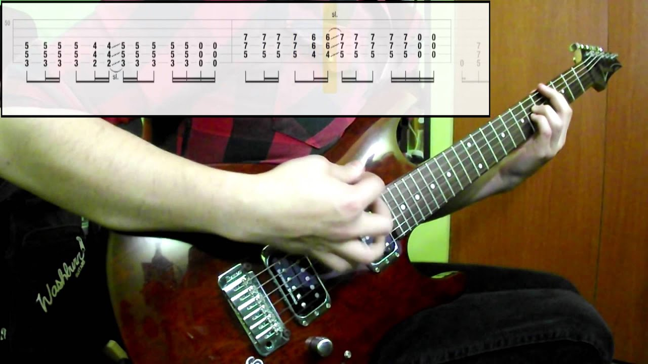 muse hysteria guitar only play along tabs in video youtube